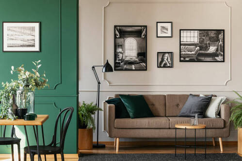 Le pareti con settori di colore per ravvivare gli ambienti