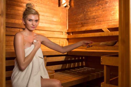 Sauna in legno.