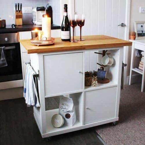 Kallax Ikea per la cucina.