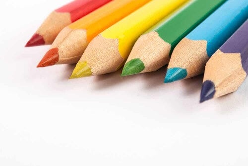 Matite per colorare.