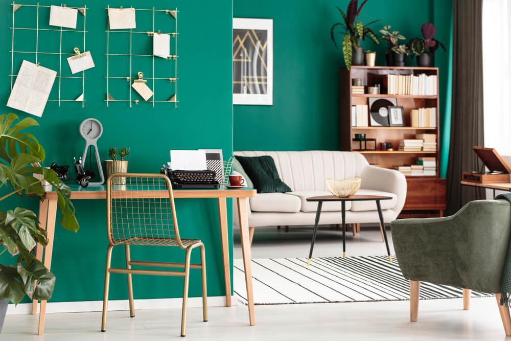 I colori ideali da abbinare al verde delle pareti