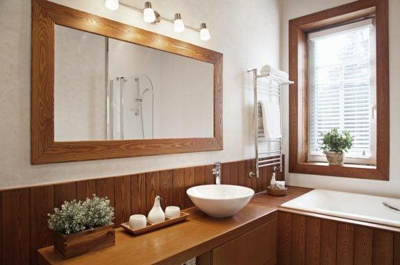 浴室 自然素材 アイデア