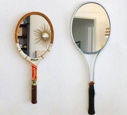 テニスラケットを使ったDIY