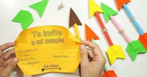誕生会の招待状