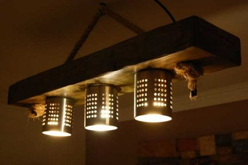 コランダーとボウルで照明器具作り