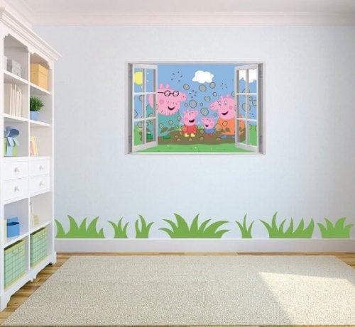子供部屋に最適なビニールデカールを選ぼう!-ペッパピッグの部屋