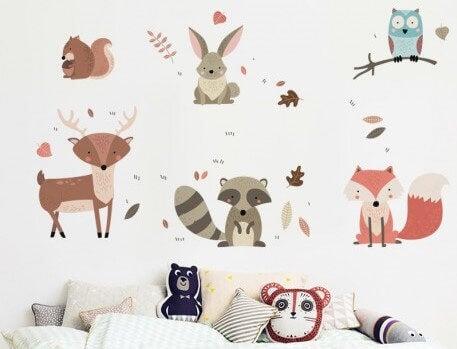 動物のデザインの子供部屋