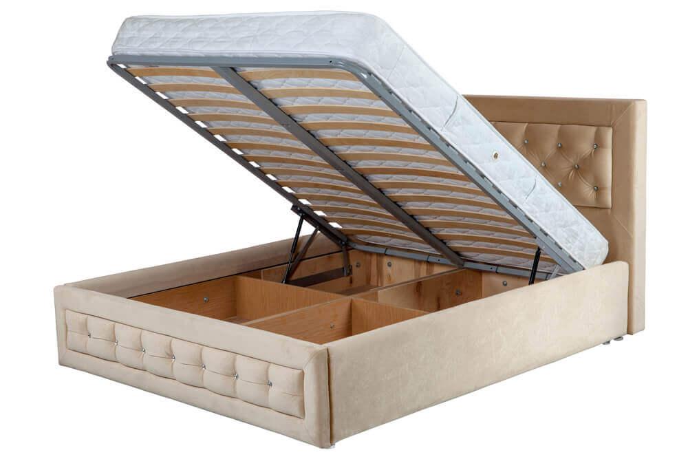 家に収納を加える収納スペースのある家具 ベッド