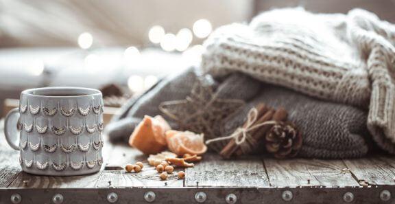 居心地の良い冬のインテリアのヒント