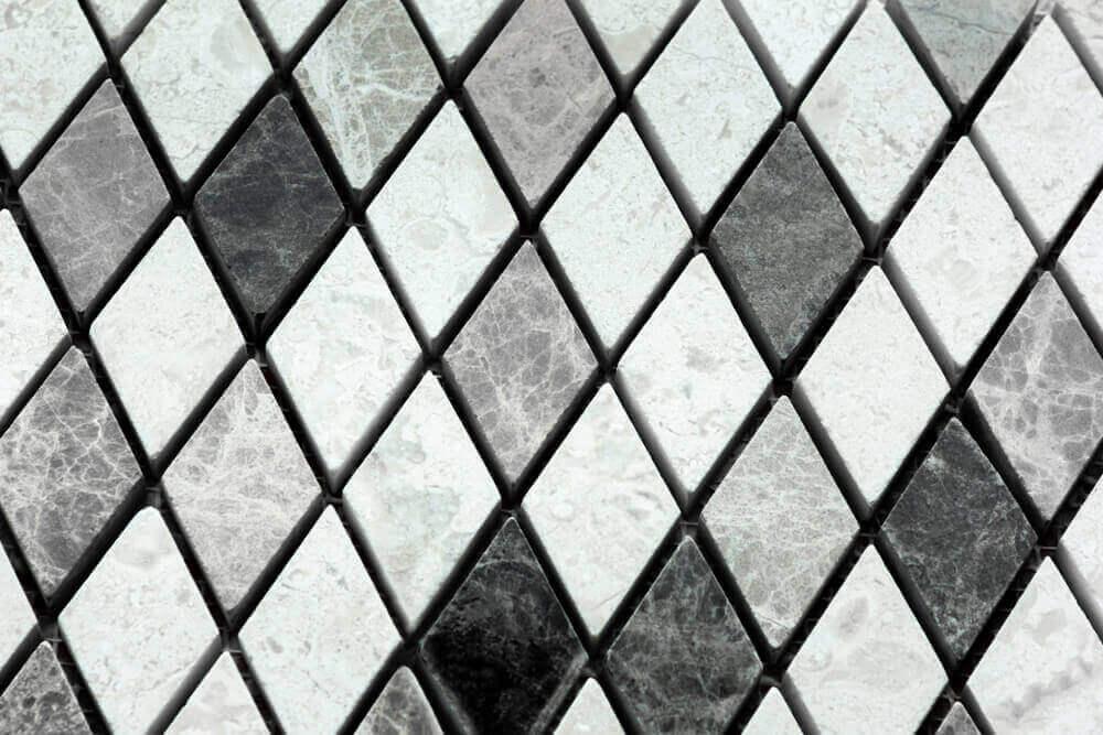 ダイヤモンドタイルを使ったインテリア フローリング