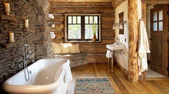 ラスティックスタイルの浴室に必要なすべてのもの