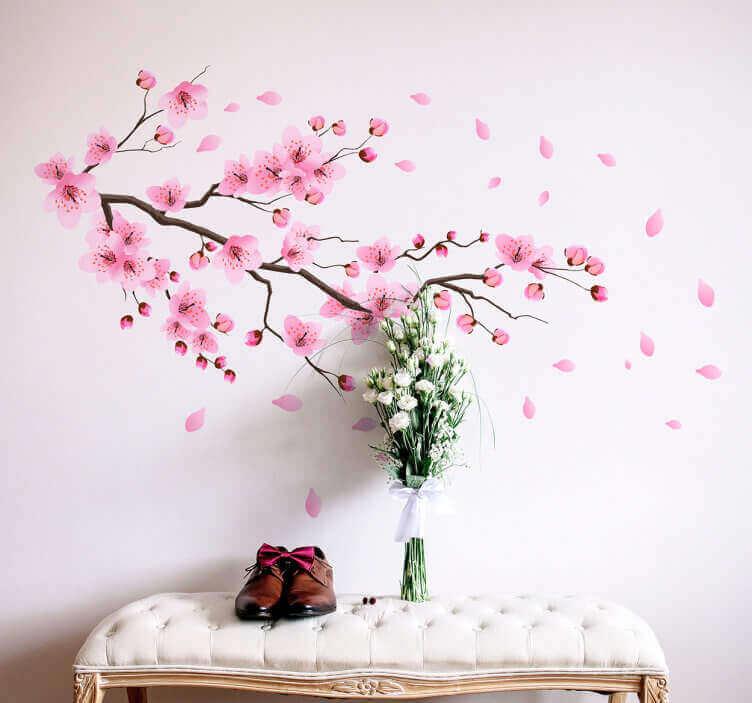 ピンクの花を模したデカーッル