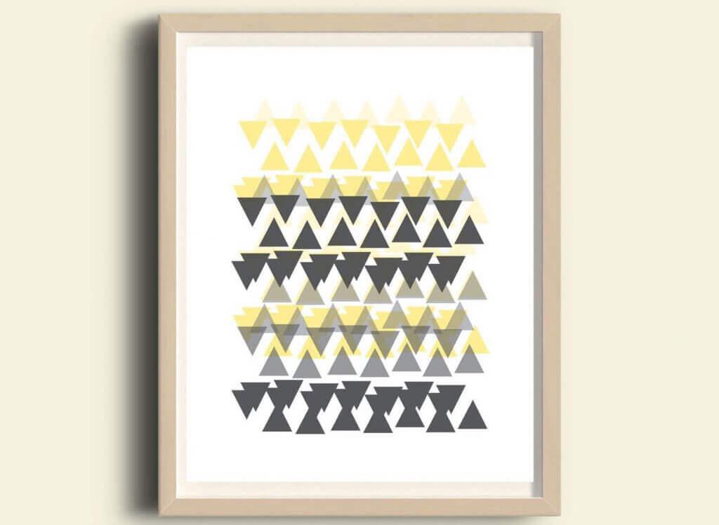 スカンジナビアスタイルの幾何学デザイン