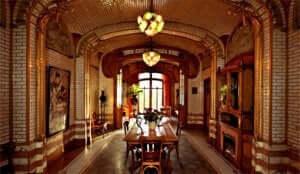 タッセル邸の内部 モダニズム建築:タッセル邸のインテリアデザイン