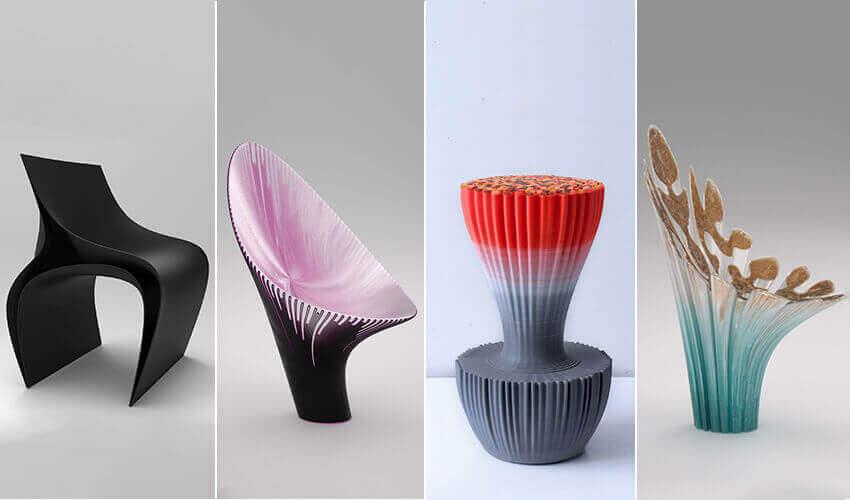 3Dプリント技術を使ったオリジナル家具たち ナガミとザハ