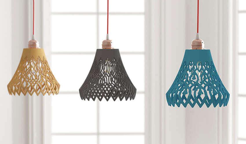 3Dプリント技術を使ったオリジナル家具たち Diランプ