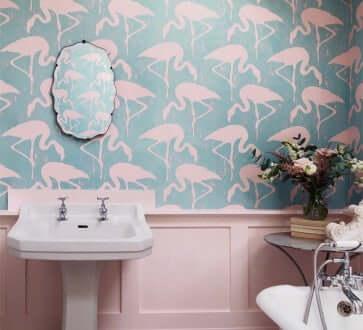 ピンクのバスルーム ピンク インテリア