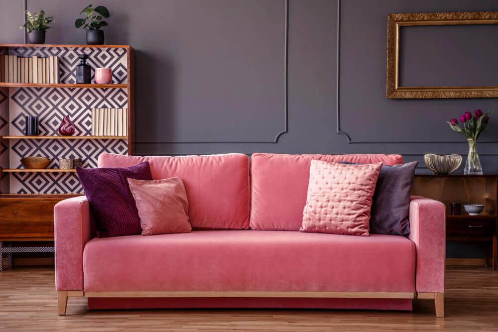 ピンクのソファー ピンク インテリア