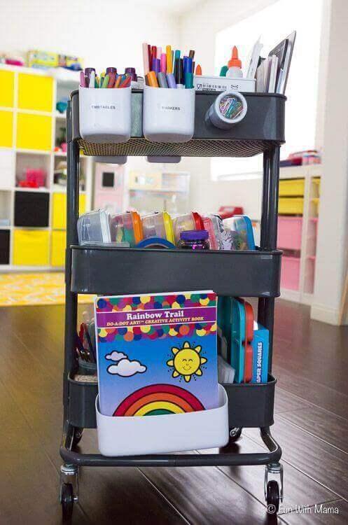 KEAの人気製品:RÅSKOGワゴンの最も独創的な使い方 子供部屋