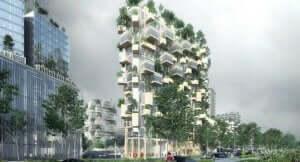 サスティナブル建築 高層ビル 壁面緑化