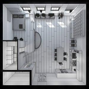 미니 하우스 설계 도면 예
