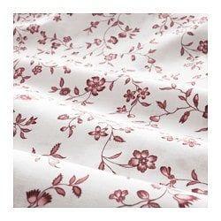 핑크색의 꽃 모티브 침구