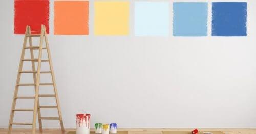 색상에 따라 다양한 효과를 가져오기 때문에 벽 색상 선택은 신중해야 한다.
