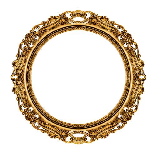 둥근 형태의 빈티지 거울