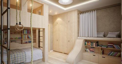 2층 침대를 사용해 침실을 꾸며보자