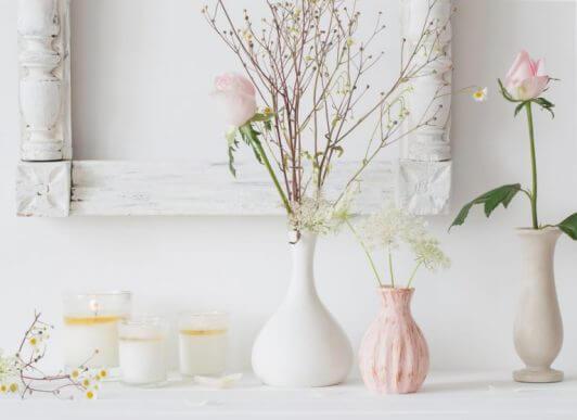 현관 장식을 위한 꽃병 4종류