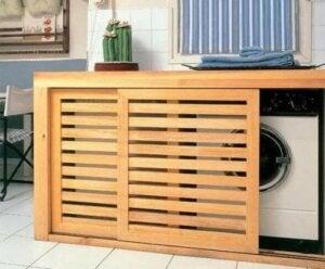유틸리티 룸: 빼놓을 수 없는 공간: 패널로 세탁기와 건조기 등을 가리자!