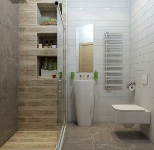 샤워 시설에는 여러 가지 종류가 있다.
