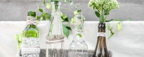 와인병을 재활용하기 위한 창의적인 4가지 아이디어