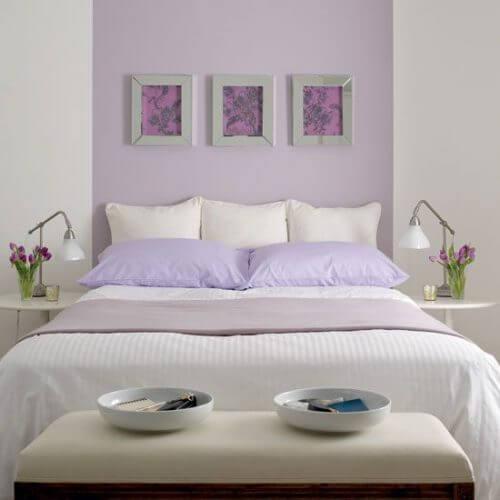 요즘 유행하는 라벤더색으로 침실 꾸미기
