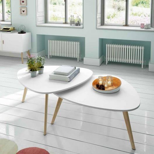 중첩 테이블은 요즘 가구점에서 갈수록 흔하게 볼 수 있다.