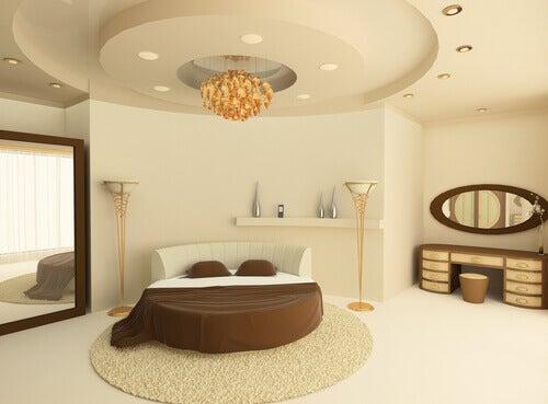 원형 침대: 독창적인 침실 연출법