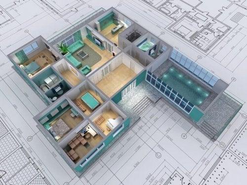 집 설계 구조적 공간
