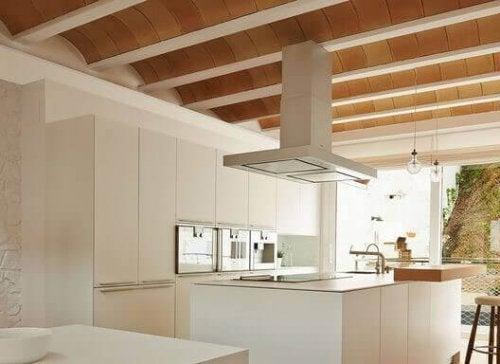 나무로 된 아치형 천장은 좀 더 현대식 건물에서 많이 보인다.