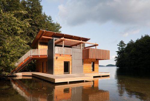 4가지 형태의 아름다운 보트 하우스