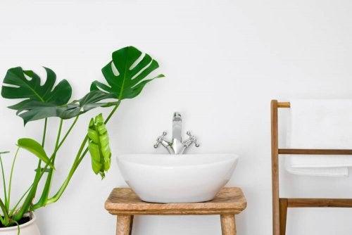 작은 욕실을 위한 밝은 색상으로는 화이트와 베이지가 있다.