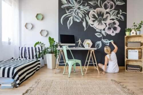 칠판 페인트로 집을 꾸미는 다양한 방법