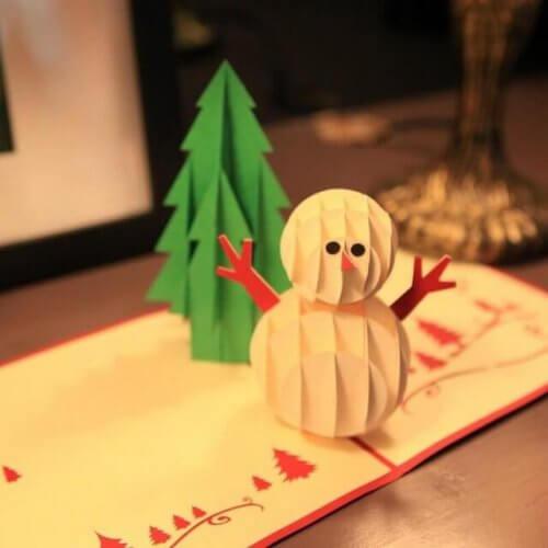 생일 파티 초대장-눈사람