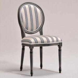 클래식한 의자-둥근