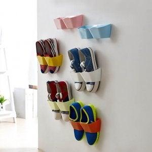 신발을 효율적으로 정리하기 위한 아이디어