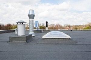방수 주택을 위한 평평한 지붕
