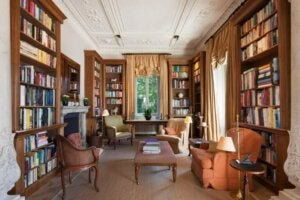 도서관 테마의 거실 인테리어 아이디어 7가지 - 전통적인 스타일