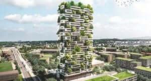 지속 가능한 건축: 숲 빌딩 - 스위스 투르 데 세르데스