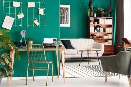 에메랄드그린, 집에서 사용할 수 있는 부드러운 색상