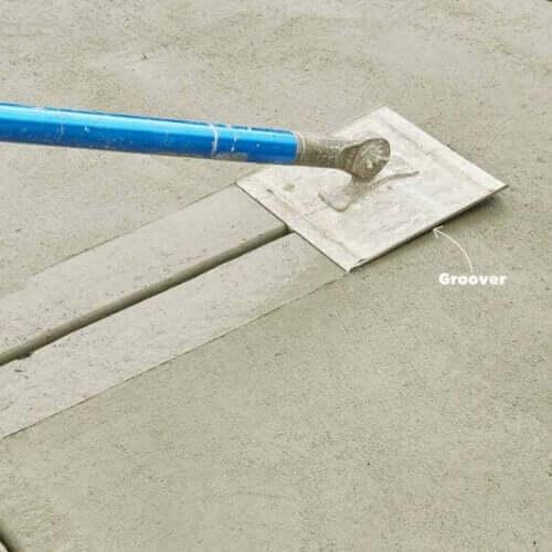 콘크리트 플랫폼 다듬질