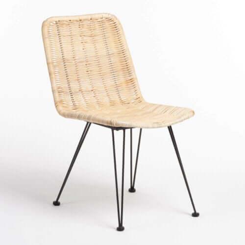 인조 라탄 의자 이미지
